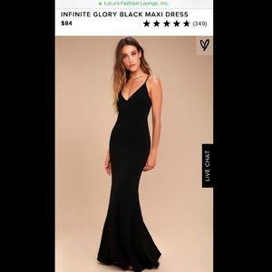 LuLu*s Black Maxi Dress - NWT